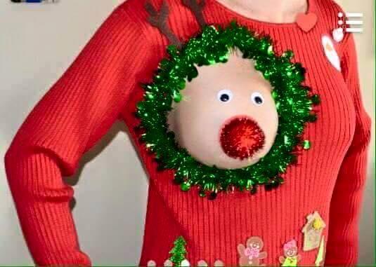 chandail allaitement Noël