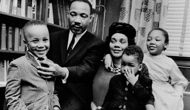 *** FILE *** Dr. Martin Luther King Jr. and his wife, Coretta Scott King, sit with three of their four children in their Atlanta, Ga, home, on March 17, 1963. From left are: Martin Luther King III, 5, Dexter Scott, 2, and Yolanda Denise, 7. Yolanda Denise King, daughter and eldest child of civil rights leader the Rev. Martin Luther King Jr., has died, said Steve Klein, a spokesman for the King Center. King died late Tuesday May 15, 2007 in Santa Monica, Calif., at age 51.  (AP Photo)